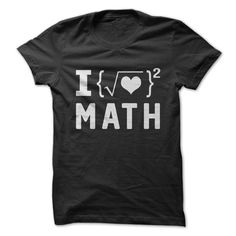 Are you a fan of Math? Show everyone how much you enjoy making others laugh, with this great shirt. Math Teacher Shirts, Math Shirts, Nerdy Shirts, School Shirts, Teacher Humor, Funny Shirts, Teacher Signs, I Love Math, Fun Math