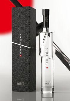 Samurai Vodka - I love the design of this bottle! Brilliant