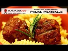 Here's a great recipe for some fantastic smoked Italian Meatballs using fresh Rosemary and Thyme for the smoke. Give it a go on your JOE! Kamado Grill, Kamado Joe, Bbq Grill, Grilling, Smoker Recipes, Cooking Recipes, Joes Italian, Ceramic Grill, Joe Recipe