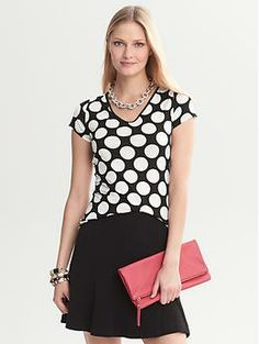 Bold Dot Tee - bought this one the other day! Great for layering or for the main piece in your ensemble.