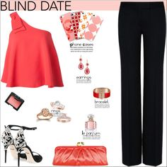 Blind Date by atelier-briella on Polyvore featuring Saloni, STELLA McCARTNEY, Dolce&Gabbana, Coach, NARS Cosmetics, Guerlain, cute, chic, Elegant and iPhonecases