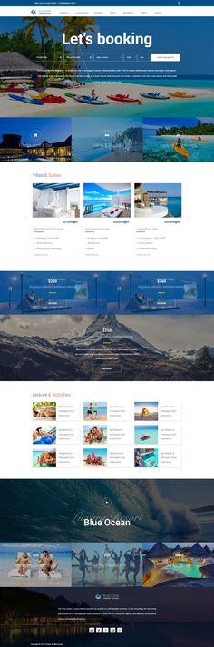 Blue Ocean - Resort & Hotel HTML Template, Retail Travel