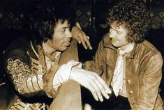 Jimi Hendrix and Eric Clapton.two of the best guitarist ever hanging out together Eric Clapton, Michelle Phillips, Joey Ramone, Chris Cornell, Paul Mccartney, Johnny Depp, Music Icon, My Music, Bob Marley