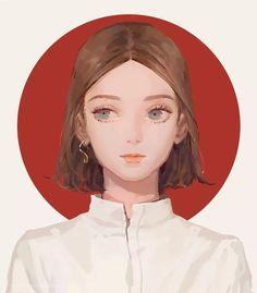 Digital Art Girl, Aesthetic Drawing, Anime Art Girl, Face Art, Amazing Art, Character Art, Fantasy Art, Art Drawings, Illustration Art