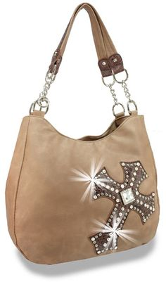 Rhinestone and Gem Accented Cross Tall Fashion Handbag - Only $22.50 with low minimum order of $100.00! http://www.handbagexpress.com/item.php?ItemID=ALT-7749-BR&Category=NewArrivals