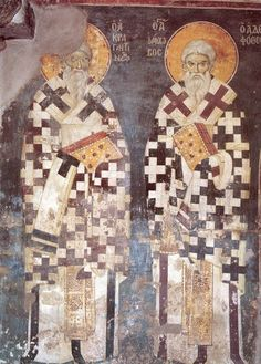 manuel-panselinos-from-the-holy-church-of-the-protaton (153) Tempera, Fresco, Byzantine Art, Religious Icons, Orthodox Icons, Mural Painting, Christian Art, Kirchen, Ancient Art