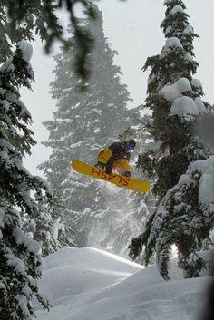 Snow slashing at Mt. Baker.