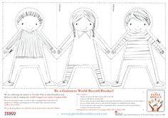 paper doll chain template - Julia Donaldson Paper Dolls Printable - World Book…