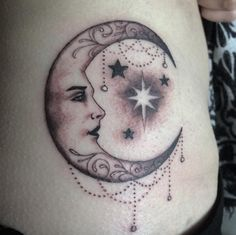 Fancy Moon with a Face Tattoo by Christopher Worker