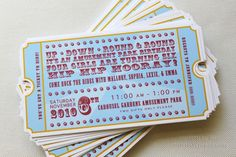great invite that can be converted to a boys or girls carnival or circus birthday party...