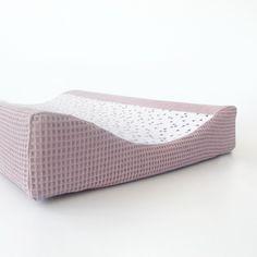 Aankleedkussenhoes wafel/print, verschillende kleuren