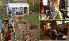 Home sweet TINY home: Meet the family of four living in a 168sq ft house after the economic downturn made them downsize
