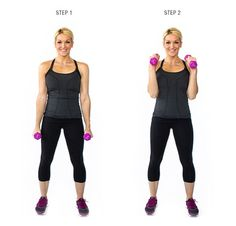 Dumbbell exercises for toned arms.