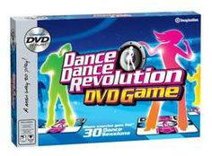 Can't get outside to exercise? Work out to the Dance Dance Revolution DVD Game  $12.45>>Enter to win a $100 gift card in the Cabin Fever Sweepstakes. No Purchase Necessary. See Rules for details. #giftscabinfever.
