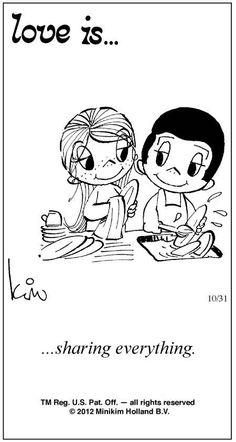 Love Is Cartoon 1970 | Love Is ... Comic Strip by Kim Casali (October 31, 2012)