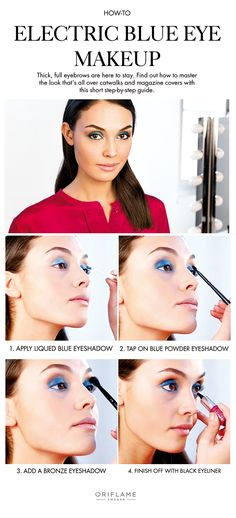 A vivid blue eye makeup look is perfect for a night on the dance floor. Learn how to create the look in a few simple steps.