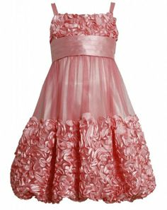 New Designs Birthday Party Dress for Baby Girls - Pink Chiffon ...