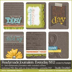 Readymade Journalers: Everyday No. 02 - Digital Scrapbooking Elements