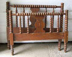 a cute bench made from a headboard and footboard!