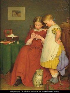 The Crochet Lesson - Edward Thompson Davis