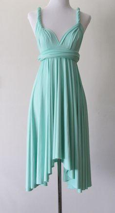 Summer day dress Convertible Dress in Mint Green Infinity Dress Multiway Dress Wrap dress Light Tiffany Green on Etsy, $33.28