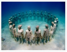 Jason de Caires Taylor.  Such an amazing  piece.  I had been thinking about this concept for years, I just think this is great!