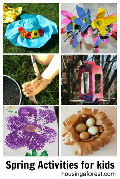 Kids spring crafts | Paper Mache Spring Hat Egg Carton Spring Flowers Painting with Mud ...