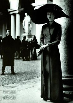 Kylie Bax Vogue Italia (March 1997) ph. Helmut Newton