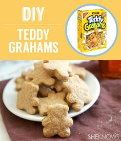 Homemade Teddy Grahams | 27 Classic Snacks You'll Never Have To Buy Again