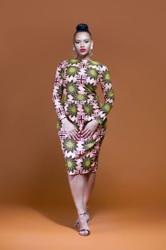 Capturing the very heart of traditional African inspired design, this colourful African Print Midi Dress is sure to become a staple addition to your wardrobe. African Fashion Designers, African Inspired Fashion, African Print Fashion, Africa Fashion, African Attire, African Wear, African Women, African Style, African Outfits
