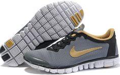 Nike Free 3.0 V2 Mens Running Shoes Dark Grey Yellow 354574 001