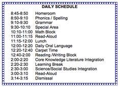 Elementary Matters My Class Schedule  A Super School Stuff For