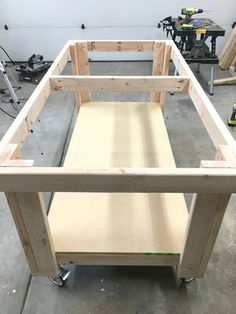Check out this tutorial on how to make your own garage workbench. This project will give you a perfect space for working on projects, storing and organizing your power tools and other home and garage items.