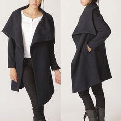 Big collar wool coat by FM011