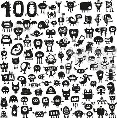 100 Funny Monsters