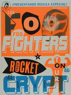 Los Foo Fighters 1998 Tour Poster