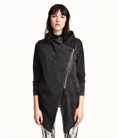 Hooded Sweatshirt Cardigan from Forever 21