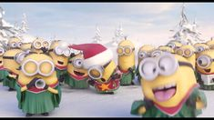 Hey Minions fans! Check out a special holiday greeting they have just fo...