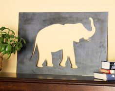 Elephant Silhouette jungalow hippie by HighlandRidgeRustics