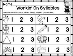 Syllables Freebie   FirstGradeFaculty.com   Pinterest   Syllable ...