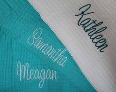 Wedding Robes Personalized Bridesmaid Robe by PersonalizedGiftsbyJ