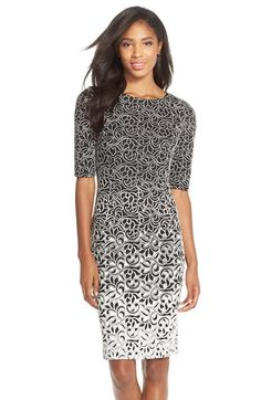 Betsey Johnson Ombré Jacquard Knit Sheath Dress available at #Nordstrom