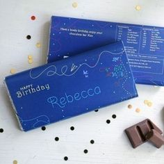 Personalised happy birthday chocolate #happybirthday #chocolate #greeting #thepersonalisedgiftshop