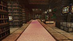 Minecraft - Fortress - Underground library 1 by Homunculus84 on DeviantArt