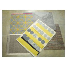 Her Large Grey And Yellow Wool Rug 170 X 240cm Now At Habitat Uk