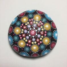 Hand Painted Mandala Stone, Meditation Mandala Stone, Do Art Stone, Healing Stone, #487 by MafaStones on Etsy