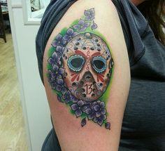 Jason sugar skull tattoo