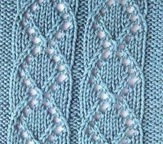 Medallion knitting pattern