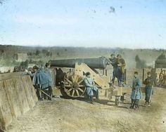 WEAPONS AND ARTILLERY The weapons used during the Civil War included the Napoleon Field Gun, the Minie Ball and the Spencer Repeating Rifle. Pictured: General Daniel Butterfield and his company using a cannon. Butterfield was one of 1,522 recipients of the Medal of Honor during the Civil War. The Civil War in colour - Lindy Powers/Getty Images
