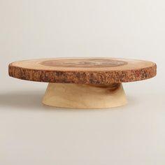 Wood Bark Cake Stand ($30)